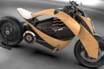 Newron, la moto in legno 100% elettrica